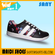 Jinjiang New Brand SANY's Stylish Custom Black Skate/Skateboard Shoes for Woman