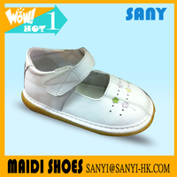 Stylish White Leather Prewalker Toddler Shoe With Hard Outsole Wholesale New Design Baby Shoes Genuine Leather Shoes Oxford