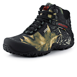 brand Hiking Shoes 2018 French the hot selling trekking shoes for men Camouflage high help outdoor climbing shoes
