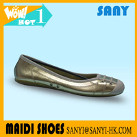Latest Designed Professional Durable Dance Shoes with Shiny Golden PU Upper for Ballerina