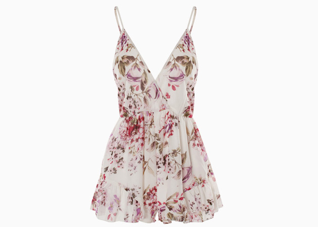 Sleeveless Chiffon Romper Floral Print Chiffon Deep V Casual Romper Short Summer Beach Party Sexy Jumpsuit 2018 new