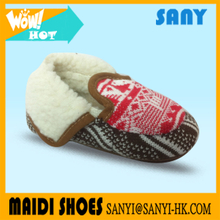 New Style Cheap Hotselling Lovely Knitted Plush Baby Shoe In Stock