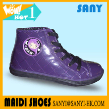 New Model High Cut Purple Cartoon Skate Shoes for Girls from China
