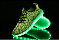 sneakers casual shoes 3D fly woven fashion LED light shoes couple casual shoes sport running shoes walking shoes led usb