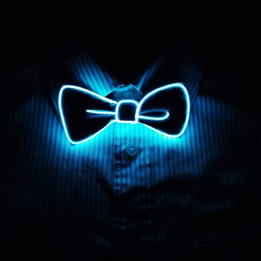 f5c0356615ba LED Light Up Bow Tie Perfect for Christmas Halloween New Years Music  Festival Rave Party