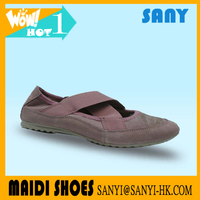 Hot Selling Stylish Red Ochre Pointe/Dance Shoes for Ladies with Durable Elastic Band