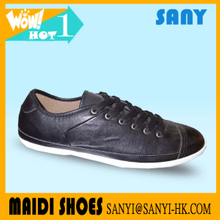 High Quality casual shoes Best Selling Mens Classical Black Leather Casual Shoes with Durable Rubber Outsole