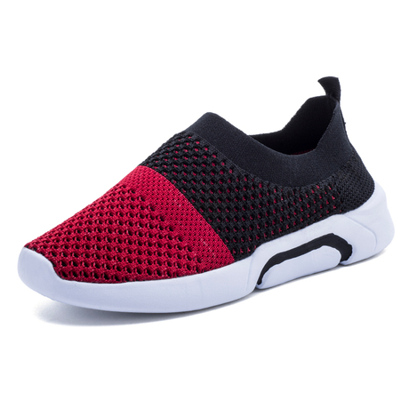 2018 socks boy running shoes brand Lightweight sports shoes for kids Breathable mesh running shoes