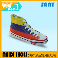 Latest Custom Unisex Mixed Color Vulcanized Canvas Shoe of High Quality with Rubber Toe from Chinese Factory