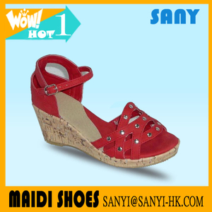 New Product--Red High Heel Ladies' Sandals with Durable Outsole