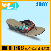 Newest Woman's Wedge Sandals/Flip flop with Durable and Soft Heel 2017 from Chinese Factory