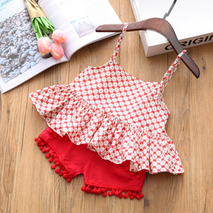 2018 Hot Summer cute Vest + Skirt Two-piece Toddler Girl Clothing Sets Children Fashion Girls Clothes Suit Baby Girl Clothes
