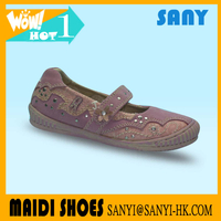 Stylish Elegant Fabric Suede Leather Casual Kid Dance shoes for Girls