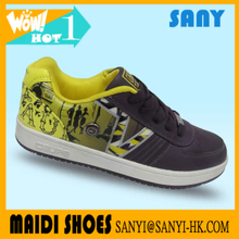 Men's skate shoes for exported skateboard shoes with pu upper skate shoes from China