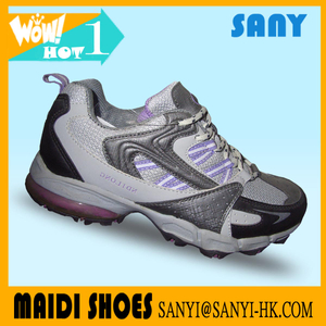 Chinese New Products--Trendy Multi-colored Hiking Shoes with Durable MD Outsole for Woman