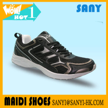New Style--Stylish Men's Sport Shoes/ Sneaker with Luxury Black PU+Mesh Upper