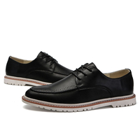 Men's casual shoes PU lace up British modern style all-match vogue trend