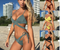 2018 the new Swimwear Women Sexy Bathing Suit Triangle Brazilian Bikini High Waist Bikini Thong Bikini