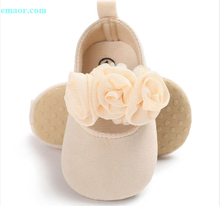 Baby Shoes Cute Newborn 0-18M Lovely Floral Japan Girl Crib Shoes Pram Soft Sole Prewalker Anti-slip Baby Toddler Shoes