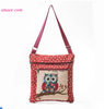 New Single Shoulder Bags Creative Animal Owl Printing Embroidery Canvas Crossbody Bags