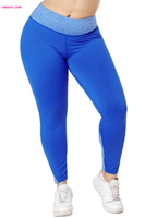 Hot Women's Heathered Splice Plus Size Girl's Yoga Pants