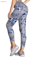 Hot High Waist Yoga Sport Leggings with Floral Print on Sale