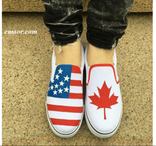 Betsy Ross Flag Shoes Low Top Sneakers Custom Design American Flag Canada Flag Shoes Men's Slip-on Canvas Shoes Brooks Flag Shoes Espadrilles Flat Us Flag Shoes