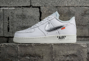 Nike Air Force 1 Low Off White Shoes Travis Scott Women's White Skateboarding Track Shoes Nike