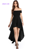 Best Prom Dresse High Low Hem Off Shoulder Party Dress Dress Barn Hot Dresses