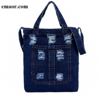 Ladies Hand Bag for Woman Shoulder Bag Crossbody Casual Jeans Bags Women's Ladies Handbags Denim Sac A Main Mujer Bags