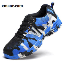 Men Safe Shoes Outdoor Steel Toe Cap Work & Safety Camouflage Army Military Puncture Proof Non Slip Shoes for Crews