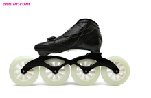 Carbon Fibre Inline Speed Skate Shoes Roller Skating shoes