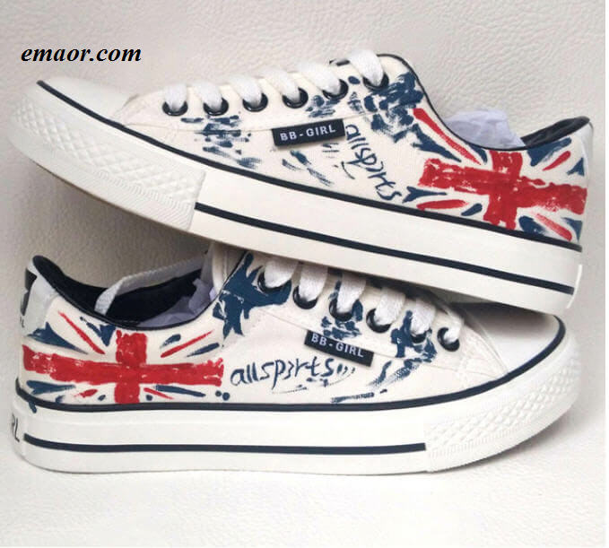 Betsy Ross Shoes Design Custom Hand Painted Shoes Pulls Flag Shoes Casual UK Flag Low Top Men's Unisex Black Union Jack Canvas Sneakers