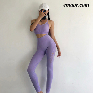 Hot Fitness Apparel for Ladies Yoga Clothes Sexy Leggings High-waisted Sweatpants Suit Sportsclothes Quick-dry for Women Gym Pants Set
