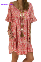 Dress Barn Formal Dresses Red Loose Scoop Neck Floral Dress Maternity Dresses Dress Barn