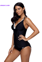 Swimsuit Megan Rapinoe Swimming Wear Black Lace Adorned Tankini Swimsuit Megan Rapinoe Swimsuit Swimsuit Seafolly