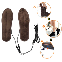Heated Cold Weather Winter Warm Shoes Insole,Control USB Electric Heated Up Comfortable Plush Memory Foam Shoes Insoles Winters To Keep Feet Warm