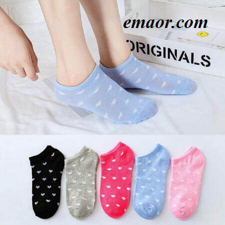 Women's Short Socks Cartoon Unicorn Cat Fox Cute Animal Print Funny Short Ankle Five Pairs of A Group Ladies Cotton Sock