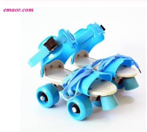 New Two Lines Roller Skates Cheap Adjustable Size Sliding Slalom Inline Skates Gifts For Kids