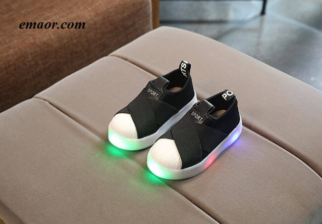 LED Sneakers Breathable Children Sports Shoes For Baby Girl S Boys Light Up Luminous Shoes