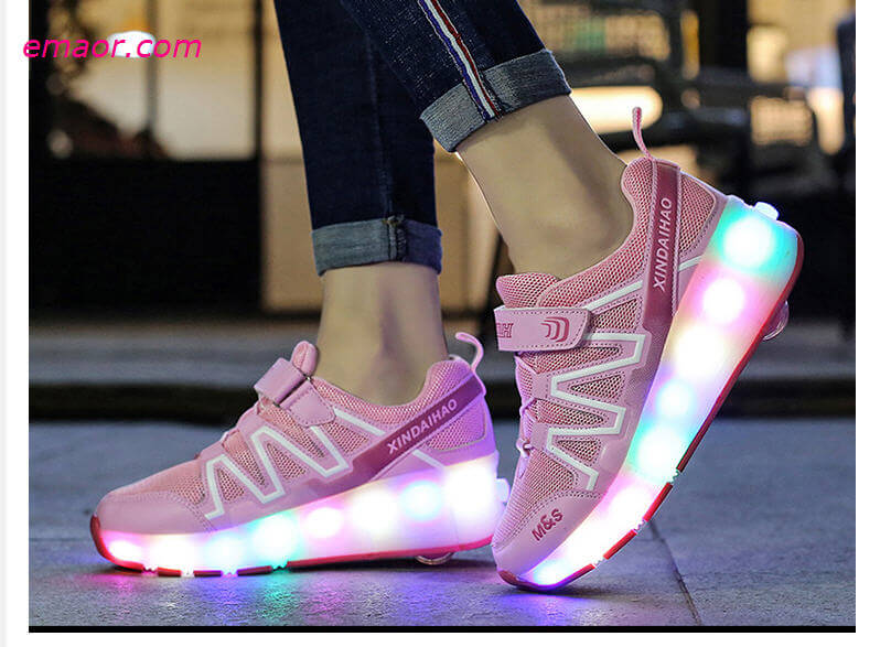 Cheap Sneakers Children Wheel Shoes Boy & Girls LED Lamp Skating Shoes Kids