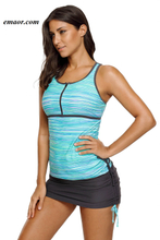 Swimsuit Seafolly Greenish Filtered Stripe Mesh Racherback Tankini Swimsuit Swimsuit Malaysia BEST Swimsuit Victorias Secret