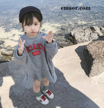 Children Hoodies New Arrival Korean Version Cotton Loose Style All-match Casual Letters Printed Cute Fashion Baby Girls Sweatshirts
