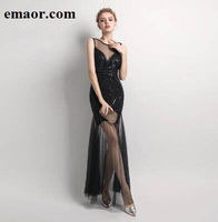 Evening Dresses New Style Sequins Beading Wedding Mermaid Long Formal Prom Party Dress Elegant Evening Gowns