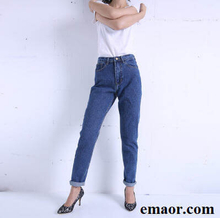 Slim Pencil Pants 2019 New Vintage Free Shipping High Waist Jeans New Loose Womens Pants Full Length Pants Loose Cowboy Pants