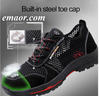 Men's Work Shoes Indestructible Shoes Women's Hiking Boots Safety Shoes Breathable Security Shoes Durable Shoes