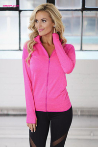 Hot Beyong Yoga Atheletic Running Yoga Jacket with Mesh Accent Apparel Yoga on Sale