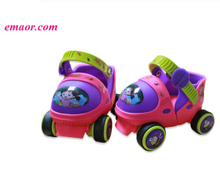 Adjustable Kid's Roller Skates 2 Colors Double Row 4 Wheels Skating Shoes