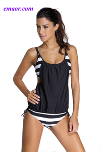 Swimwear Full Fitting Swimwear One Piece Black Layered-Style Cross Back Tankini with Triangular Briefs Swimsuit Victorias Secret Swimwear
