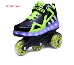 Boys Shoes Two-wheeled Children's shoes Pulley Sports Shoes Girls With Wheels Four wheeled Adult Shoes
